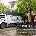 Taxi tải Phi Long cung cấp cho thuê xe tải chở hàng tại phố Nhuệ Giang