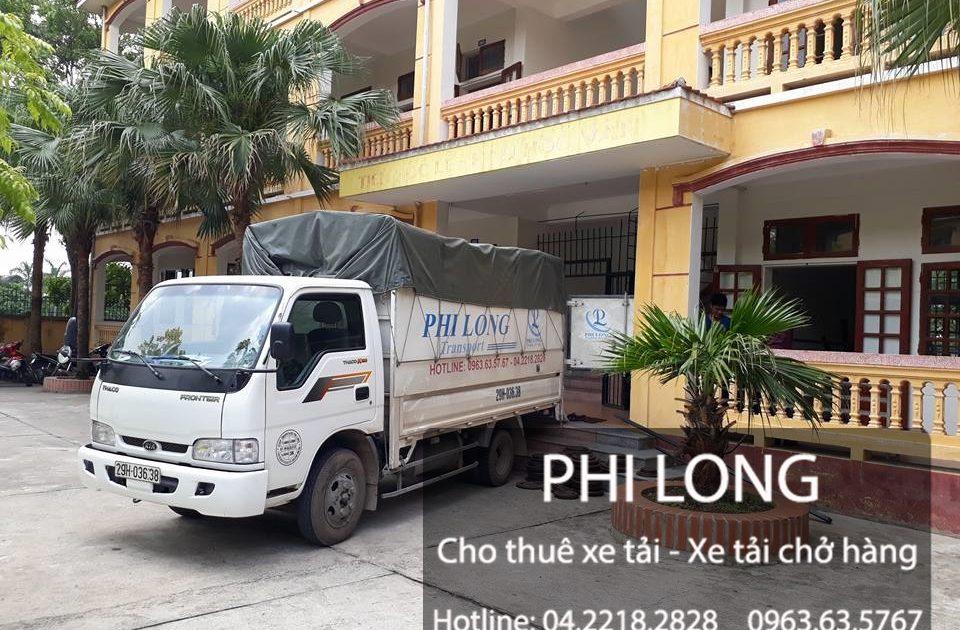Phi Long hãng cho thuê xe tải chuyển nhà giá rẻ tại phố Trưng Nhị