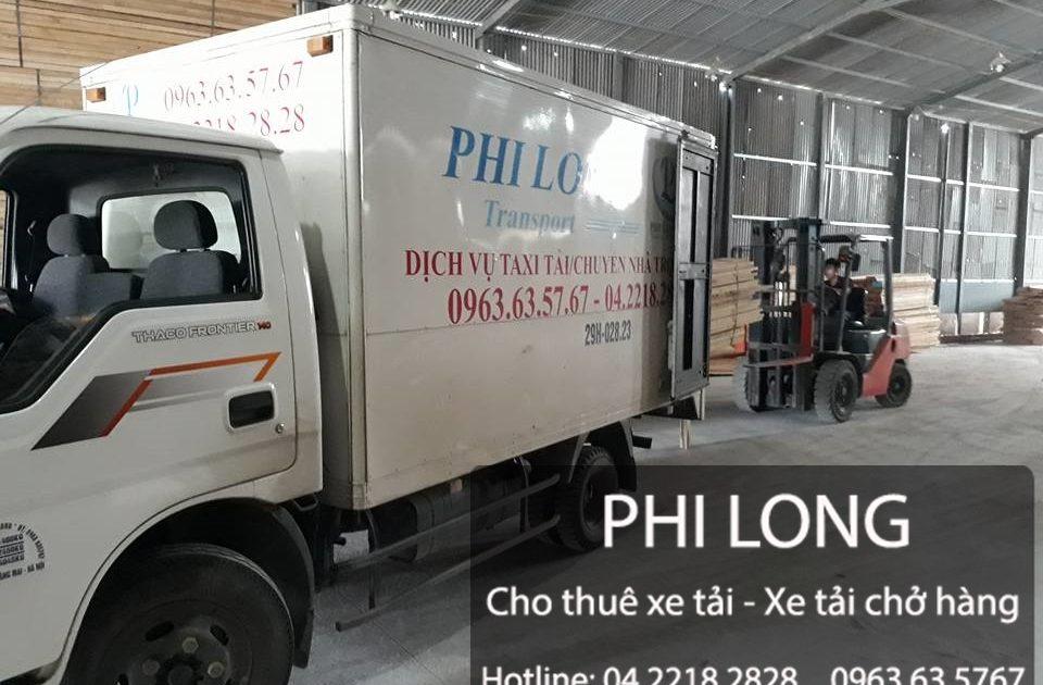 Cho thuê xe tải chở hàng giá rẻ chuyên nghiệp Phi Long tại phố Quang Trung