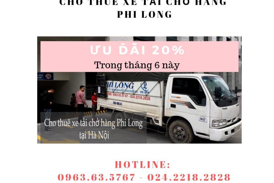 Dịch vụ cho thuê xe tải tại phố Trần Đăng Ninh