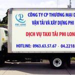 Dịch vụ taxi tải Phi Long tại phố Xốm