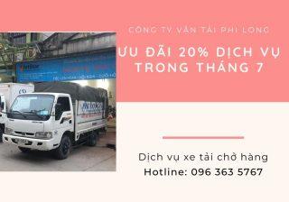 Dịch vụ cho thuê xe tải Phi Long tại xã Vân Tảo