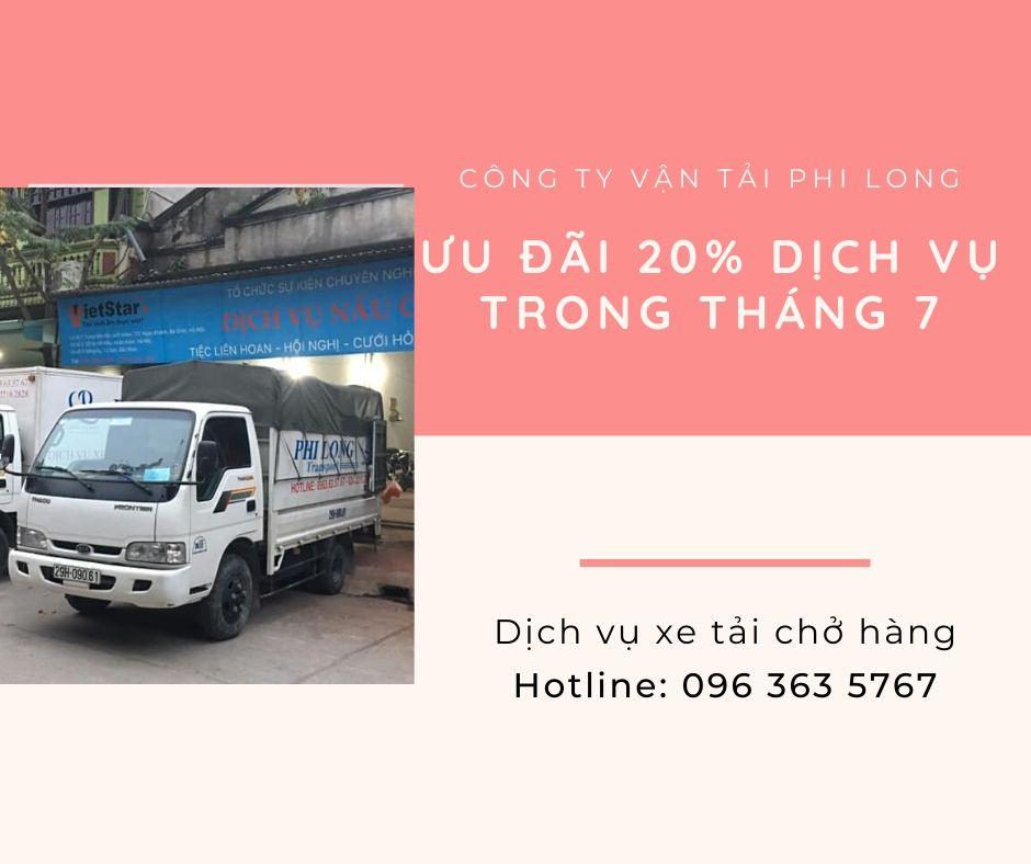 Dịch vụ cho thuê xe tải Phi Long tại xã Tân Minh